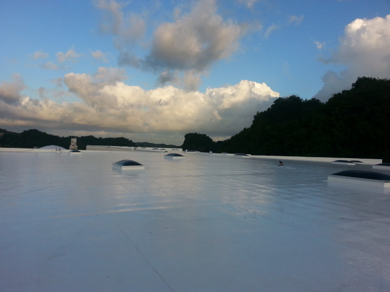 TPO Rhino-Bond Installation in Puerto Rico