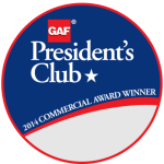 Dezigns Construction Receives GAF's Prestigious 2014 President's Club Award