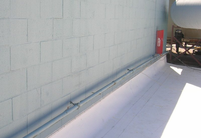 Term Bar And Counter Flashing At Wall Dci Commercial And