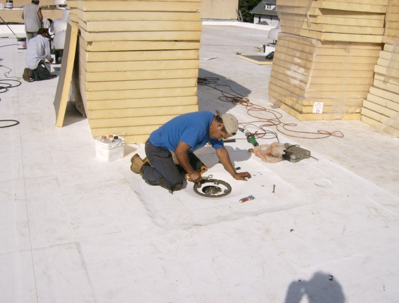 Tpo Drain Install Dci Commercial And Industrial Roofing