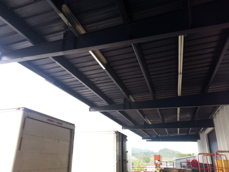 Canopy Roof Steal I-Beam Replaced